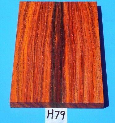 Colorful Cocobolo Knife Blank Handle Scales~Knife Grips~Exotic Wood