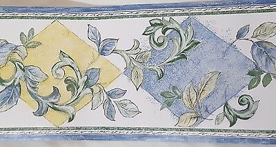 Shelborne Wallcoverings Wallpaper Border Multi Color Leaves 687217 Sunworthy