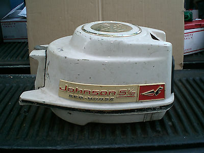 Vintage Johnson Outboard Hood and engine tray   1960 5 1/2hp CD-17