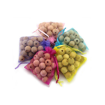 20pcs Anti Bug Cedar Camphor Wood Moth Balls Repellent Wardrobe Drawer 1 Bag