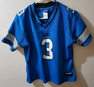 8490437dcb1 Reebok Joey Harrington Detroit Lions Football Jersey Woman Large STITCHED