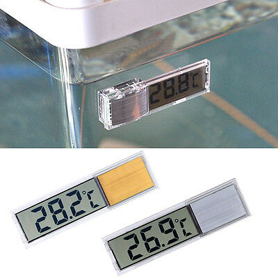 Practical Digital LCD Electronic Aquarium Fish Tank Water Detector Thermometer