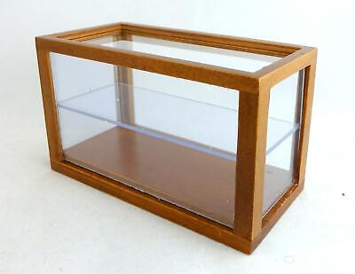 Melody Jane Dolls House Mini Walnut Wooden Shop Fitting Display Case Counter