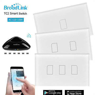 Broadlink TC2 1/2/3G Glas WiFi/4G Touch-Panel Schalter & Broadlink RM Pro