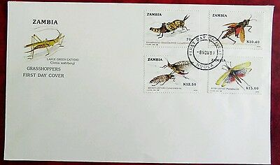 Zambia Grasshoppers FDC Ndola CDS plain unaddressed cover 1989