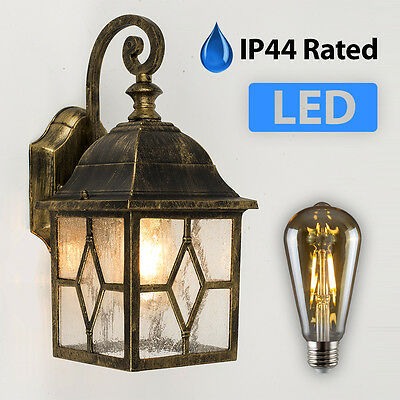 Outdoor Wall Lantern Traditional Patio Light LED Vintage Designer Garden Lights