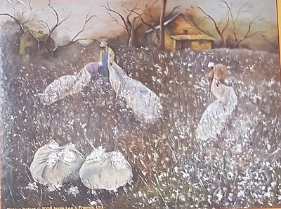 Annie Lee 500 PC Jigsaw Puzzle Picking Cotton African American Arts