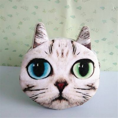 Animals Prints Face Cute Ladies Cat Zipper Bag Dog 3D Coin Wallet
