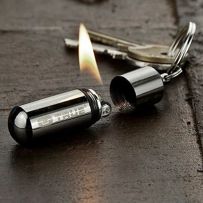 True Utility FireStash Camping Travel Survival Waterproof Fire Lighter Keyring