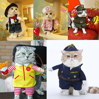 Dog Clothes For Pets Cat Costume Outfit Shawl Fancy Dress Apparel T Shirt Cotton
