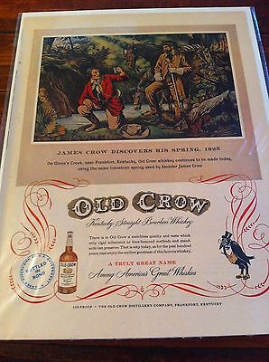 Vintage 1952 Old Crow James Crow Discovers His Spring Print Art ad