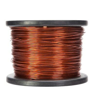 """16 AWG Gauge Enameled Copper Magnet Wire 10 lbs 1252' Length 0.0535"""" 200C Nat"""