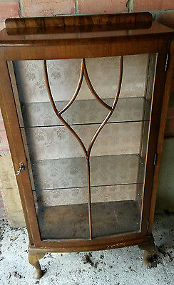 Mid Century wood and glass display cabinet H & Co. Herqual