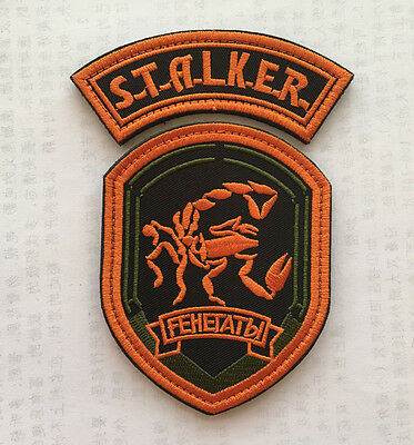 Russia Scorpion MILITARY MORALE TACTICAL  BADGES EMBROIDERED HOOK PATCH SJ+ 1059