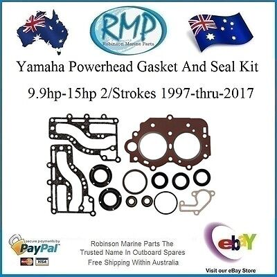 A New Yamaha Powerhead Gasket & Seal Kit 9.9-15hp 1997-2017 # R 63V-W0001-00