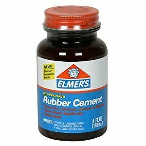 ELMERS NO-WRINKLE RUBBER CEMENT 4oz or 8oz