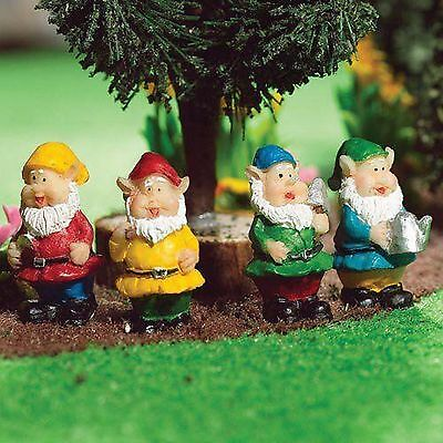 DOLLS HOUSE 1/12th SCALE GARDEN GNOMES SET OF 4