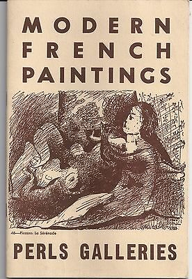 1946 PERLS GALLERIES Modern French Paintings CATALOGUE II