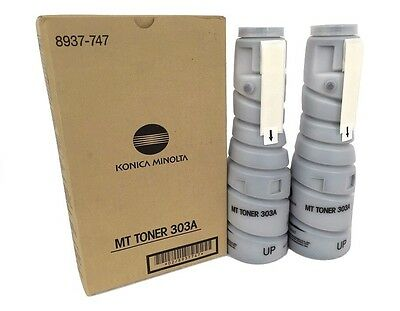 Konica Minolta 8937747 8937-747 Type 303a MT Black Toner Cartridge 2 Pack