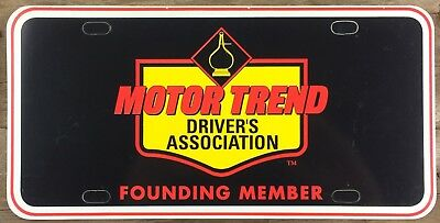 California MOTOR TREND Magazine Driver Association Front Booster License Plate!