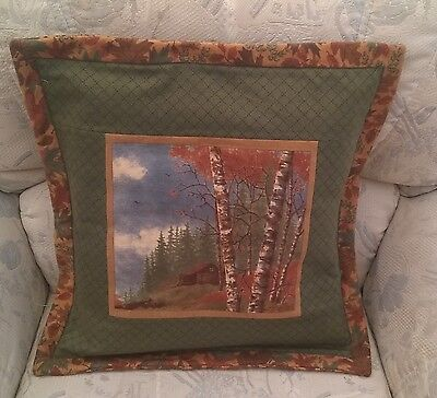 Patchwork Quilting Kit Complete Cushion Kit - Into the Woods Cottage Flannel