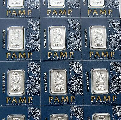 5 X 1 GRAM PAMP SUISSE MultiGram PLATINUM BARS .9995 PURE