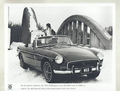 1972 MG MGB ORIGINAL Factory Photograph wy4201