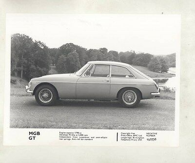 1965 ? MG MGB GT ORIGINAL Factory Photograph wy4228