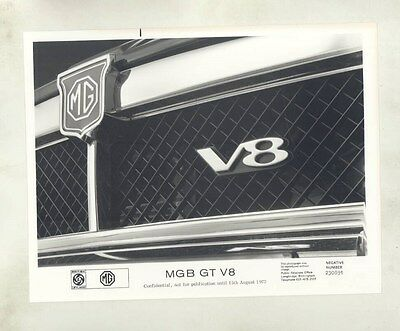 1974 MG MGB GT V8 Grille ORIGINAL Factory Photograph wy4269