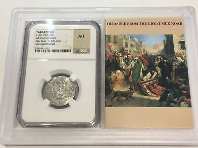 Tabaristan AR Hemidrachm NGC Certified Almost Uncirculated Ancients
