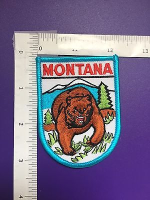 Montana Grizzy Bear  Souvenir  Patch