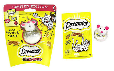 Dreamies Snacky Mouse Cat Toy with Dreamies Cheese Cat Treats