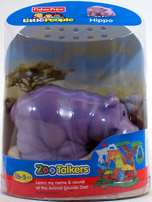 Fisher-Price Little People ZOO TALKERS HIPPO Interactive sounds NEW hippopotamus