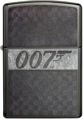 Zippo Choice James Bond 007 Collection Engraved Lighter Grey Dusk 29564 NEW