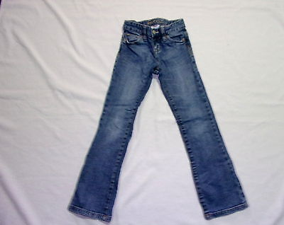 Size 7 Slim - Girl- Blue Denim Jeans By Old Navy - Boot-Cut - Adjustable Waist