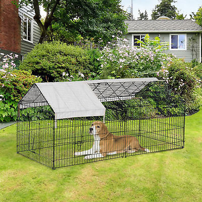 87x41x41-IN Small Animal Enclosure Rabbit Dog Pet Metal Cage Run Play with Cover