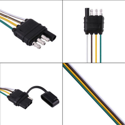 4 Way Trailer Wiring Connection Kit Flat Wire Extension Harness Boat Car