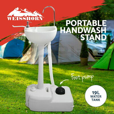 Camping Portable Sink Wash Basin Stand Food Event Building 19L Water Capacity