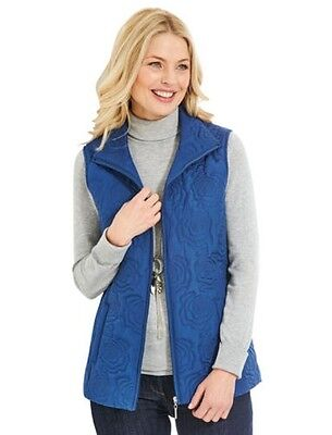Ladies Embroidered Padded Gilet