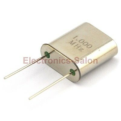 10PCS 1 MHz Quartz Crystal Resonator, HC-51/U, 1.000 MHz, 1000 KHz.