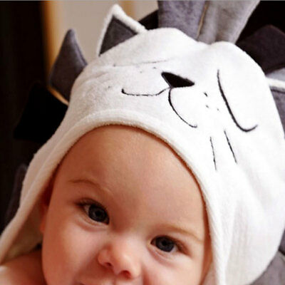 Baby Bath Towel Soft Hooded Unisex Elli & Raff Newborn Baby Kitty Bath Towel