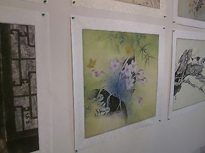 Vintage Chinese Water-color on Rice Paper, matted on silk, artist signed [5]