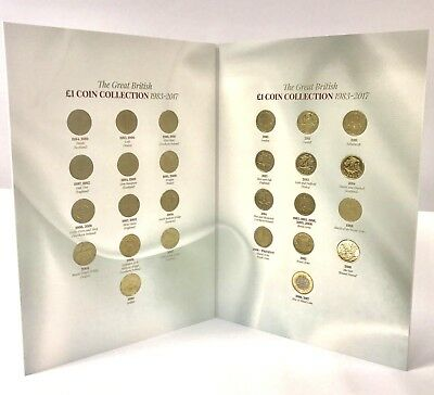 NEW 2018 Edition Great British £1  Coin Album Collectors WITH COINS Complete