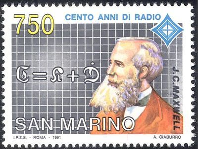 San Marino 1991 Maxwell/Radio/People/Communications/Telecomms/Science 1v n43348