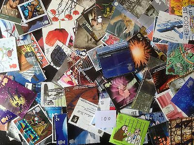 100 Different Great Britain Commemoratives 2000-2009 Stamp Collection