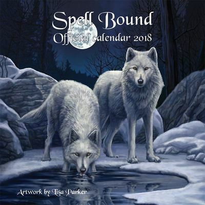 LISA PARKER 2018 Spellbound WALL CALENDAR UNICORNS WOLVES OWLS