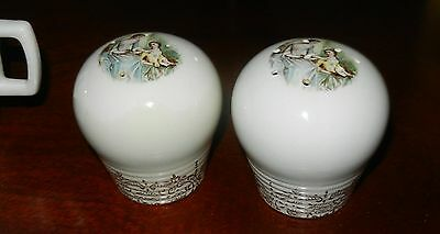 1940's Salt Pepper Shakers China d'Or Filigree by Limoges American 22K GOLD TRIM