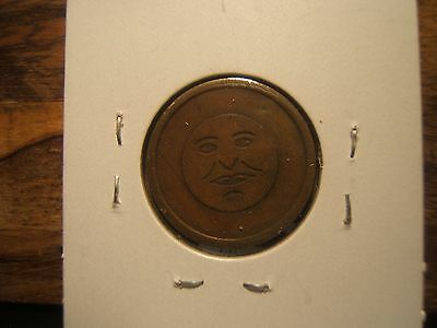 MAN IN THE MOON FACE Token  Both Sides of Coin Token Great Gift for Golf-er