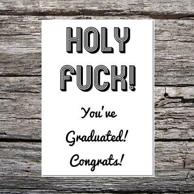 FUNNY OFFENSIVE CONGRATULATIONS card leaving university exam