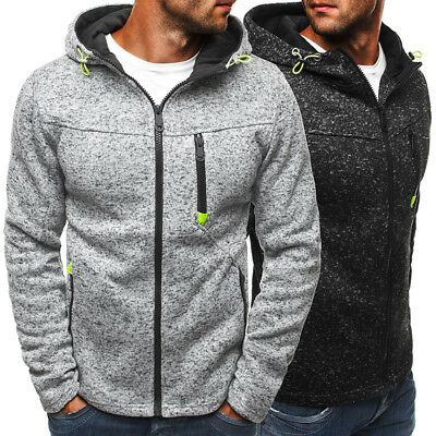 2017 New Autumn/ Winter Men 's Sweatshirt Hoodie Full Zip Hooded Pullover Casual